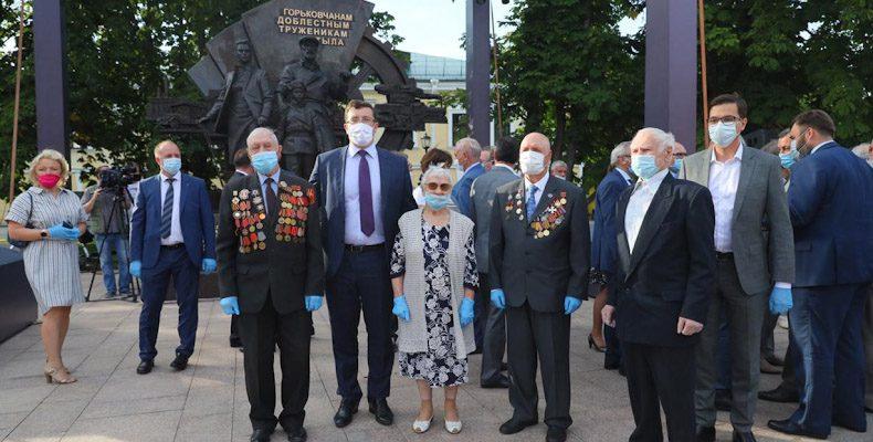 Памятник «Горьковчанам — доблестным труженикам тыла» открыт в Нижегородском кремле