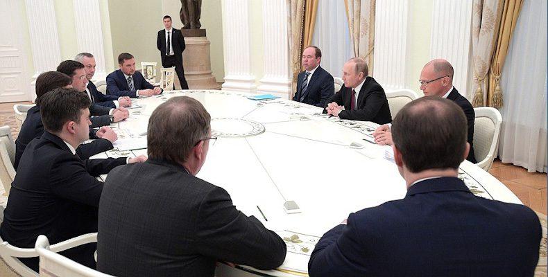 Глеб Никитин встретился с президентом России Владимиром Путиным