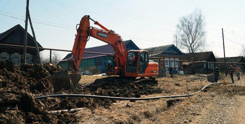 Строительство водопровода строго по плану