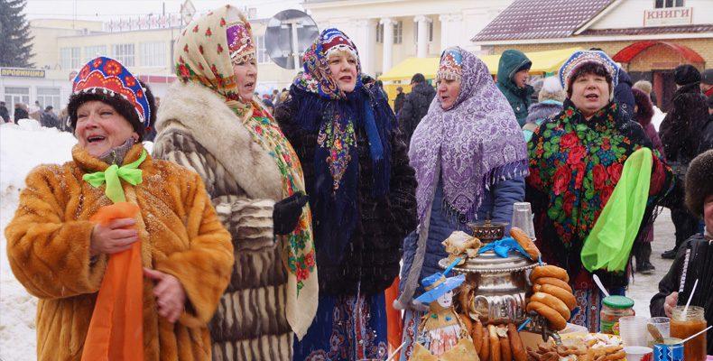 Честной народ гулял — зиму провожал!