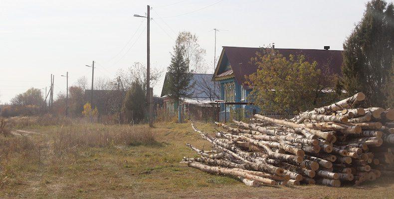 Осень российской деревни