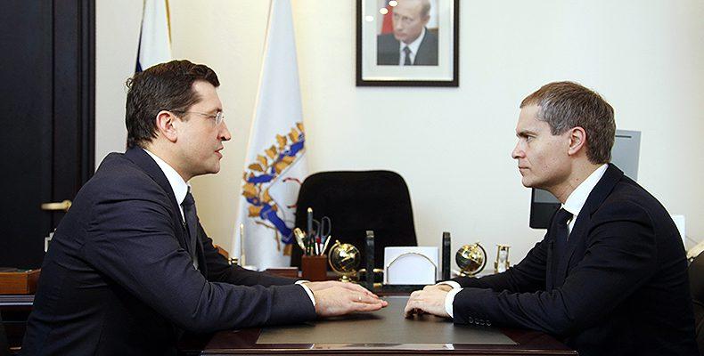 Глава региона Глеб Никитин провел рабочую встречу с главой Н.Новгорода Владимиром Пановым