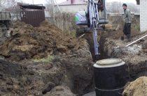 В микрорайоне № 1 началось строительство канализации